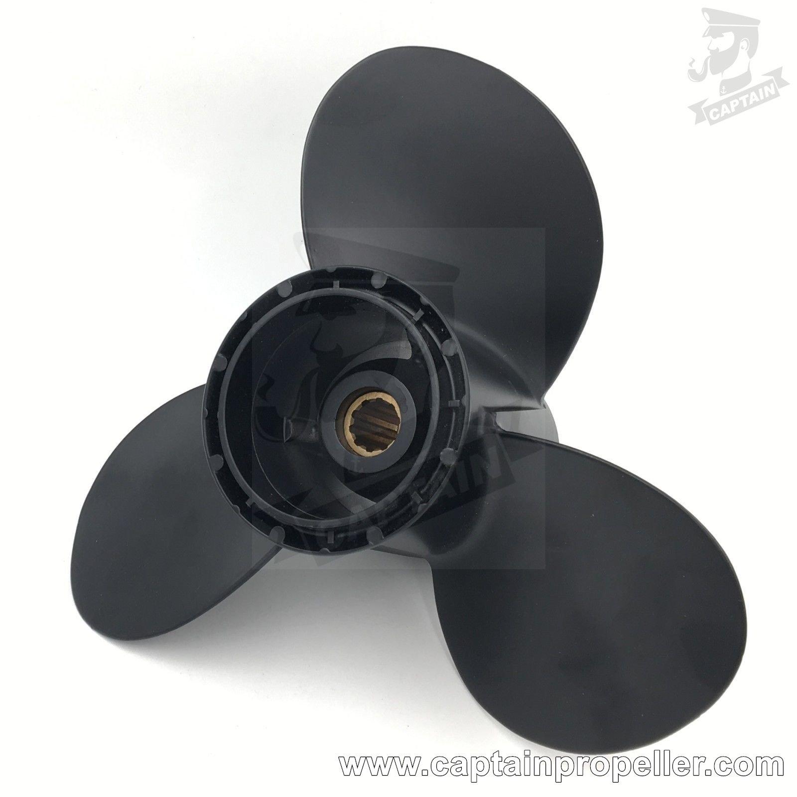 Aluminum Outboard Propeller 9 1//4x10 for Suzuki Prop 8-20HP 58100-93773-019