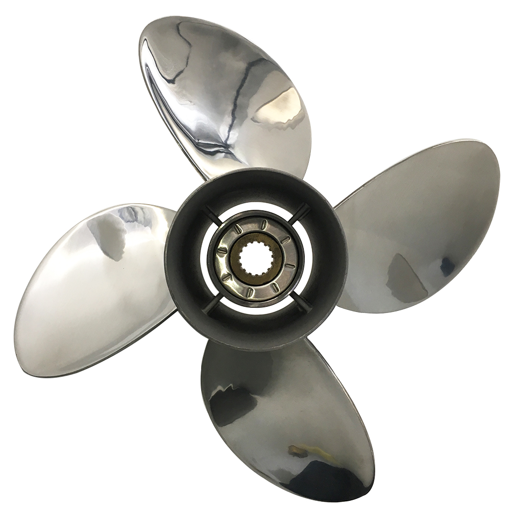 13 x 19 4 Blades Stainless Steel Propeller For Honda Outboard Engine 70-130HP